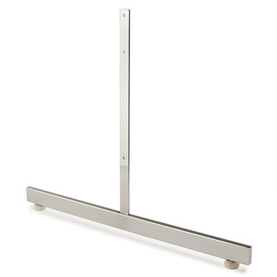 """18"""" H x 24"""" W T-Shaped Legs Stand Base for Grid Panels Finish: Chrome"""