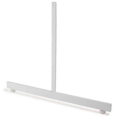 """18"""" H x 24"""" W T-Shaped Legs Stand Base for Grid Panels Finish: White"""