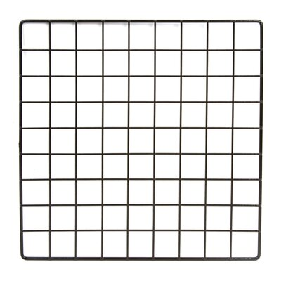 "1""H x 14""W Epoxy Coated Wire Grid Cubbies Finish: Black"