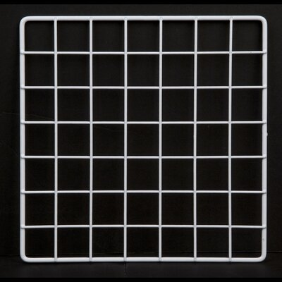 """1""""H x 14""""W Epoxy Coated Wire Grid Cubbies Finish: White"""