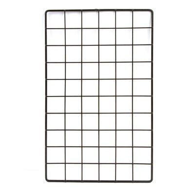 "1""H x 16""W Epoxy Coated Wire Grid Cubbies Finish: Black"