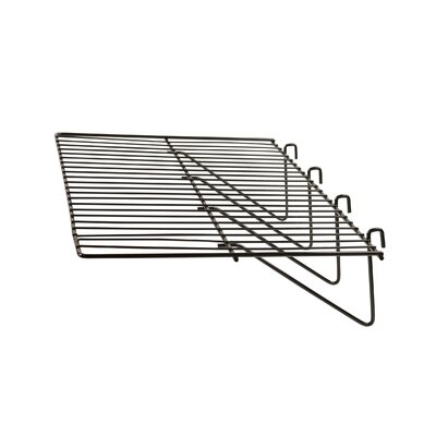"""1"""" H x 24"""" W Straight Wire Shelf for Grid Panels Finish: Black"""