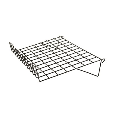 """1"""" H x 23"""" W Sloping Wire Shelf with Front Lip for Grid Panel Finish: Black"""