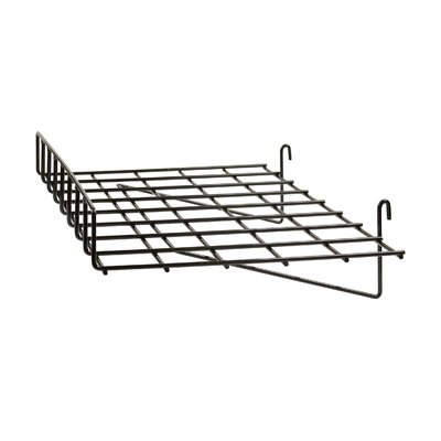 """3"""" H x 24"""" W Straight Wire Shelf with Front Lip for Grid Panel Finish: Black"""
