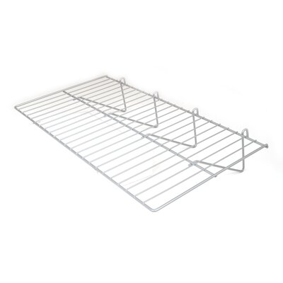 """1"""" H x 24"""" W Straight Wire Shelf for Grid Panels Finish: Chrome"""