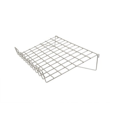 """1"""" H x 23"""" W Sloping Wire Shelf with Front Lip for Grid Panel Finish: Chrome"""