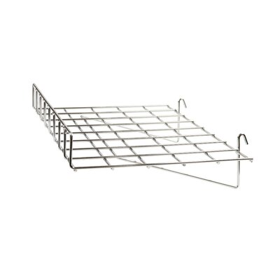 """3"""" H x 24"""" W Straight Wire Shelf with Front Lip for Grid Panel Finish: Chrome"""