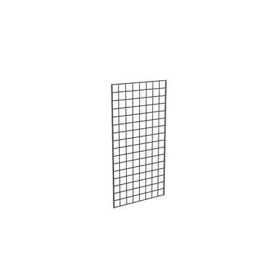 "48"" H x 24"" W Grid Panel Finish: Black"