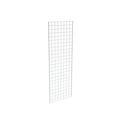 "72"" H x 24"" W Grid Panel Finish: White"
