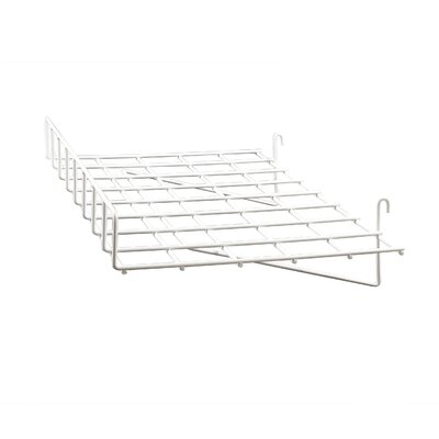 """3"""" H x 24"""" W Straight Wire Shelf with Front Lip for Grid Panel Finish: White"""