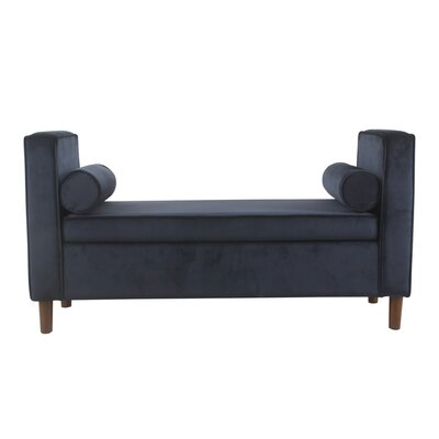 Lathan Upholstered Storage Bench Upholstery: Dark Navy