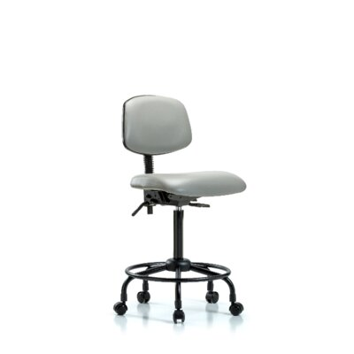 Sky Round Tube Base Ergonomic Office Chair Casters/Glides: Casters, Color: Dove, Tilt Function: Included