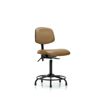 Sky Round Tube Base Ergonomic Office Chair Casters/Glides: Glides, Tilt Function: Included, Color: Taupe