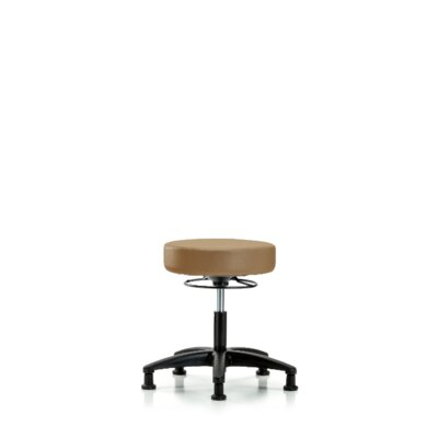 Anissa Height Adjustable Lab Stool Foot Type: Glides, Seat Color: Taupe