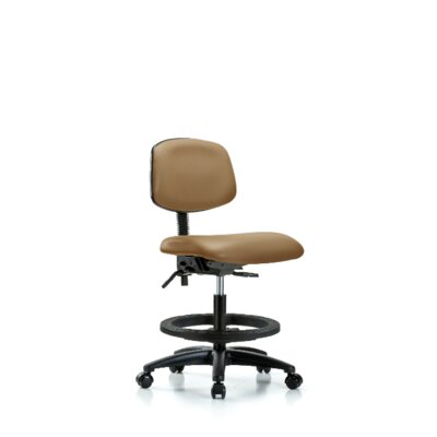 Lyra Ergonomic Office Chair Casters/Glides: Casters, Tilt Function: Not Included, Color: Taupe