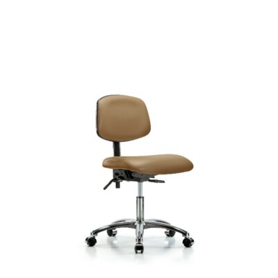 Lisbeth Desk Height Ergonomic Office Chair Casters/Glides: Casters, Tilt Function: Included, Color: Taupe