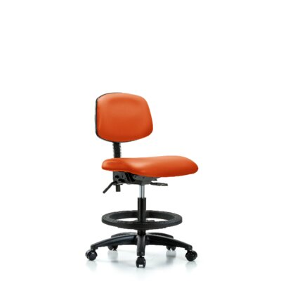 Lyra Ergonomic Office Chair Casters/Glides: Casters, Tilt Function: Not Included, Color: Orange