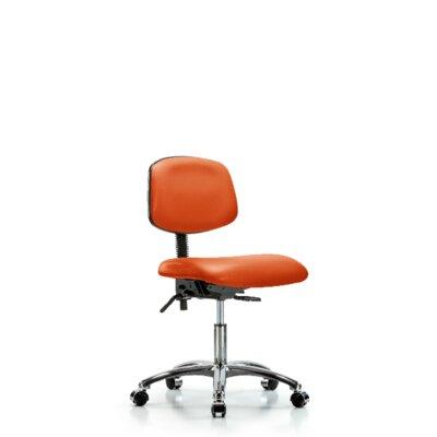 Lisbeth Desk Height Ergonomic Office Chair Casters/Glides: Casters, Tilt Function: Included, Color: Orange