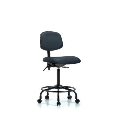 Sky Round Tube Base Ergonomic Office Chair Casters/Glides: Casters, Color: Imperial Blue, Tilt Function: Included