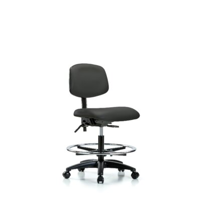 Lucrezia Ergonomic Office Chair Casters/Glides: Casters, Color: Charcoal, Tilt Function: Included