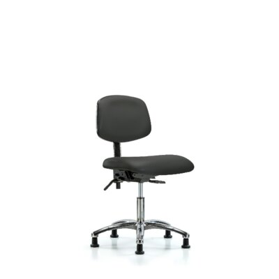 Lisbeth Desk Height Ergonomic Office Chair Color: Charcoal, Casters/Glides: Glides, Tilt Function: Included