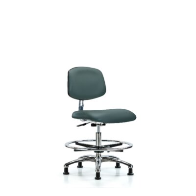 Yareli Medium Bench Ergonomic Office Chair Color (Upholstery): Colonial Blue, Casters/Glides: Glides