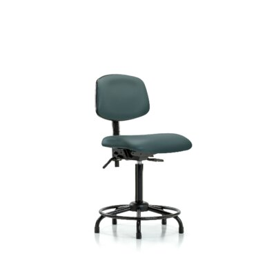 Sky Round Tube Base Ergonomic Office Chair Color: Colonial Blue, Casters/Glides: Glides, Tilt Function: Included