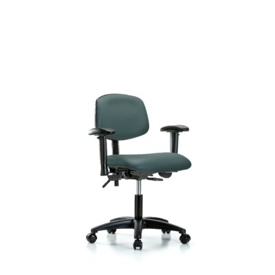 Arwen Desk Height Ergonomic Office Chair Casters/Glides: Casters, Color: Colonial Blue, Tilt Function: Included