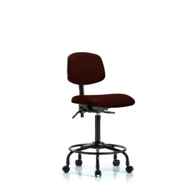 Sky Round Tube Base Ergonomic Office Chair Color: Burgundy, Casters/Glides: Casters, Tilt Function: Included