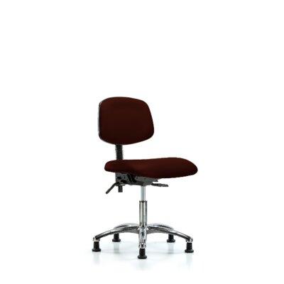 Lisbeth Desk Height Ergonomic Office Chair Color: Burgundy, Casters/Glides: Glides, Tilt Function: Included