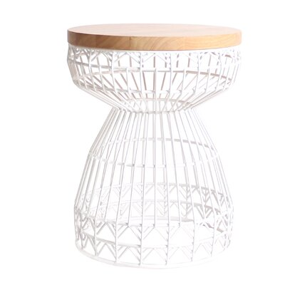 Sweet Accent Stool Frame Color: White