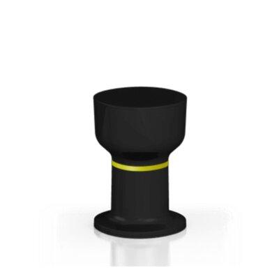 Gerrity Accent Stool Color: Black/Mustard