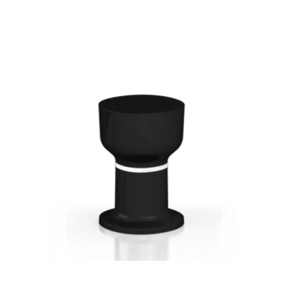 Gerrity Accent Stool Color: Black/White