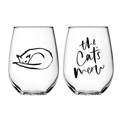 Chelsea Petaja The Cat's Meow 2 Piece Every Day Glass Set (Set of 2)