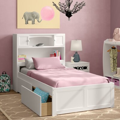 Greyson Mate's & Captain's Bed with Storage Size: Twin, Color: White