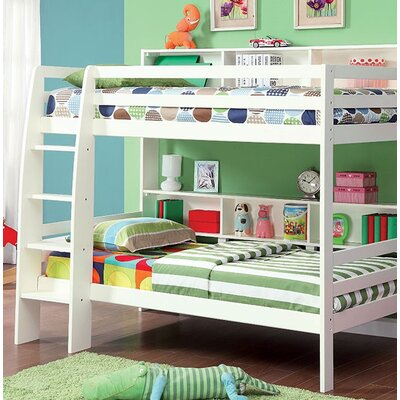 Powers Twin Bunk Bed Bed Frame Color: White