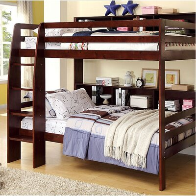 Powers Twin Bunk Bed Bed Frame Color: Dark Walnut