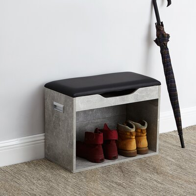 Compact Storage Bench Color: Marble Gray