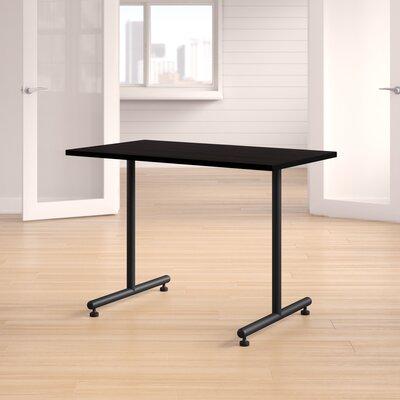 "Training Table with Wheels Size: 42"" W, Tabletop Finish: Mocha Walnut"