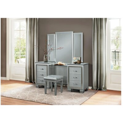 Boden Vanity Stool Color: Gray
