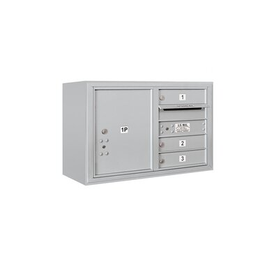 Surface Mounted 5 Door Front Load 4C Horizontal Mail Center Mailbox Color: Aluminum