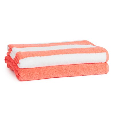Danvers 100% Cotton Beach Towel Set Color: Coral