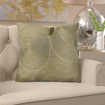 """Jorgenson Muted Pewter Stardust Luxury Pillow Size: 16"""" x 16"""", Fill Material: 95/5 Feather/Down"""
