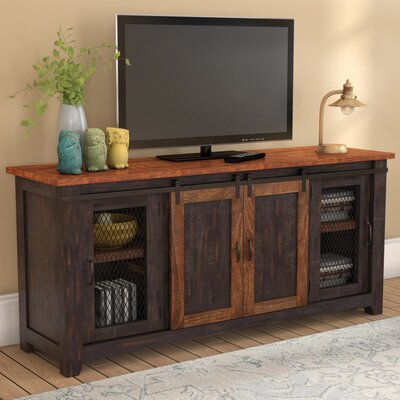 """Belen 65"""" TV Stand Color: Antique Black and Distressed Pine"""