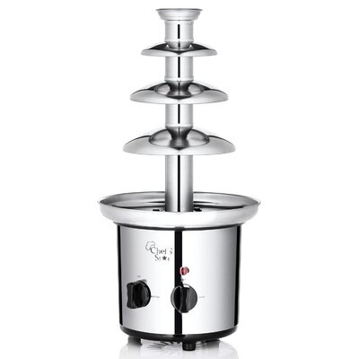 Electric 3-Tier Stainless Steel Chocolate Fountain (2.5 lbs)