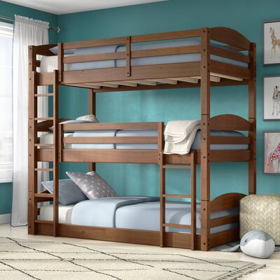 Narooma Twin over Twin Triple Bed Bed Frame Color: Mocha