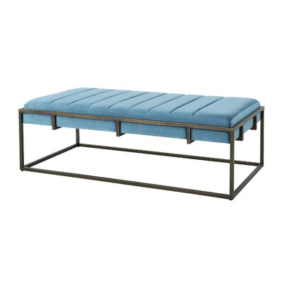 Callison Metal Bench Color: Aqua