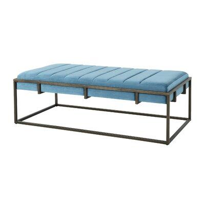 Callison Metal Bench Color: Aqua