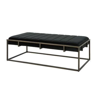 Callison Metal Bench Color: Black