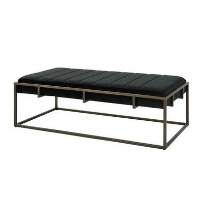 Callison Metal Bench Color: Black